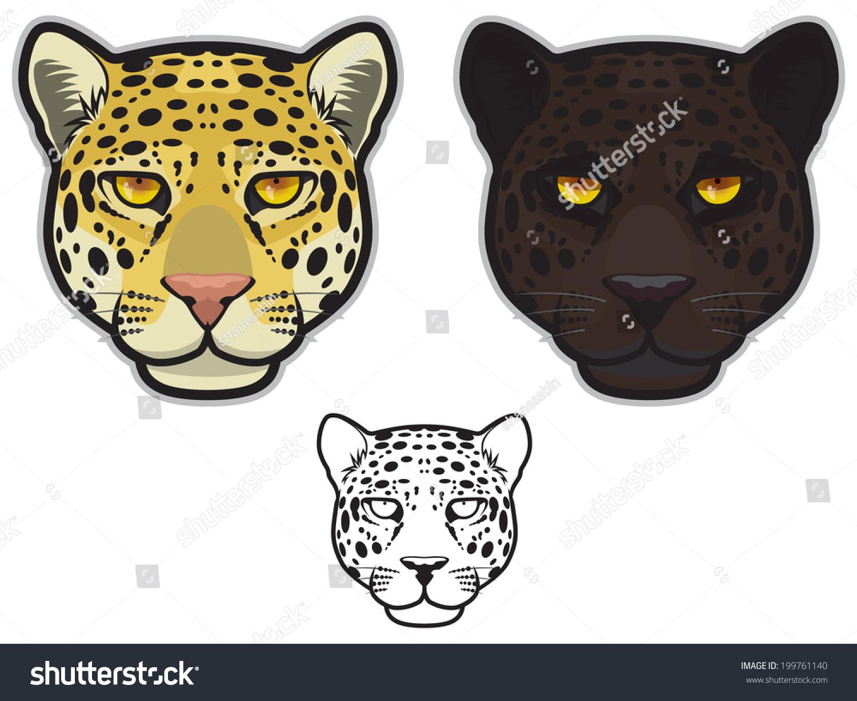 jaguar face illustration - photo #24