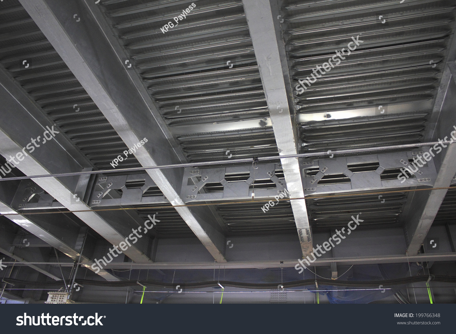 Steel Frame Ceiling Renovation Site Jr Stock Photo (Royalty Free ...