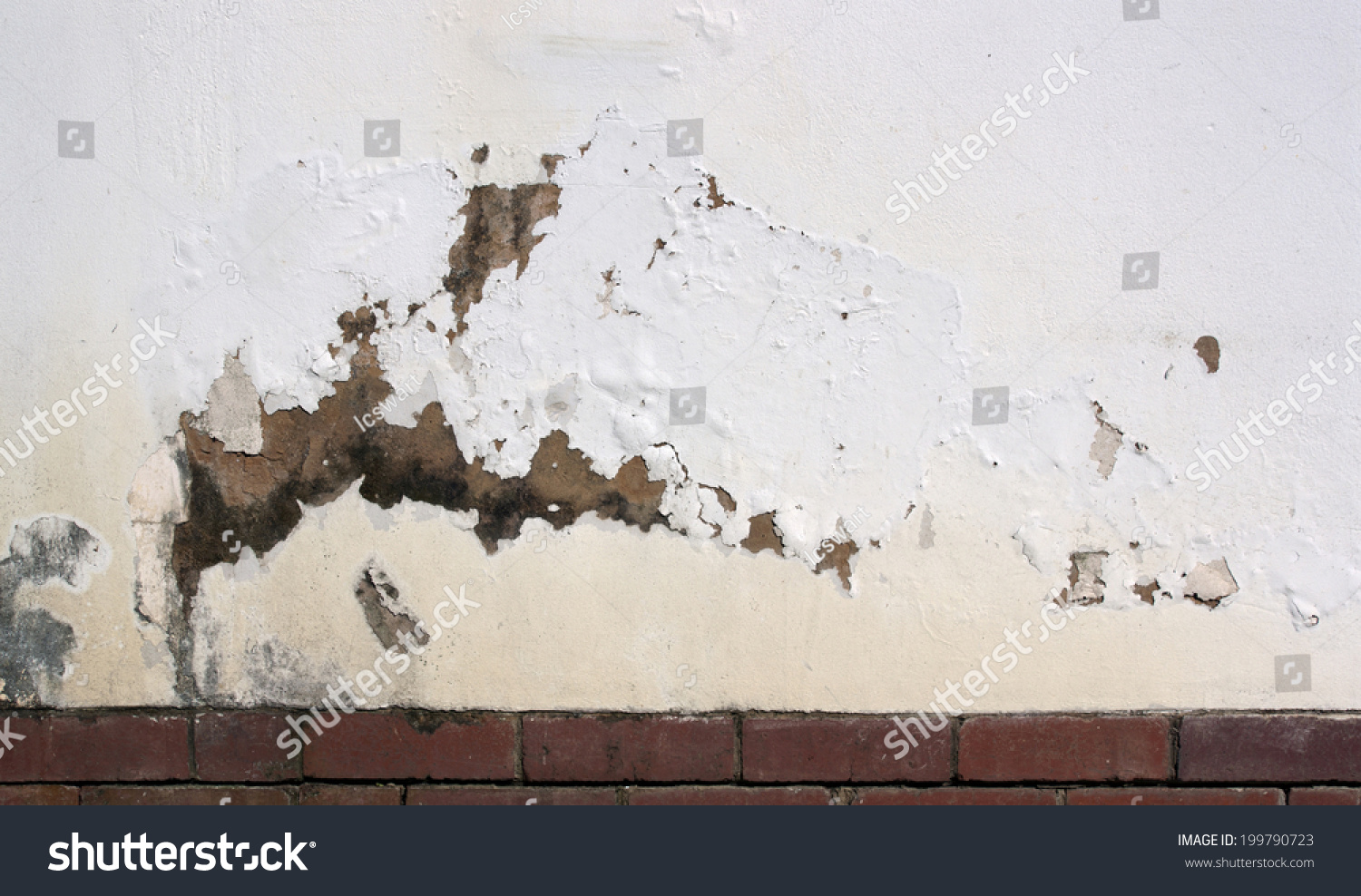 flaking paint on exterior wall indicating rising damp. Black Bedroom Furniture Sets. Home Design Ideas