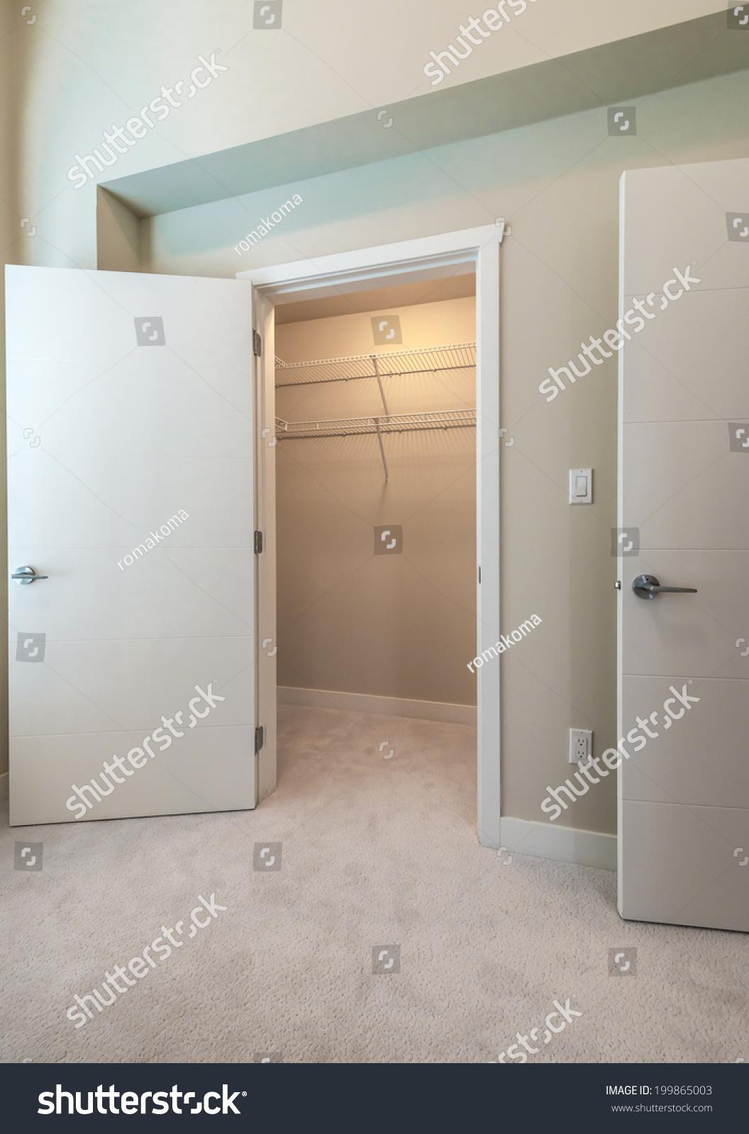 empty closet door room interior empty closet working cupboard in bedroom closet working cupboard bedroom stock photo edit now
