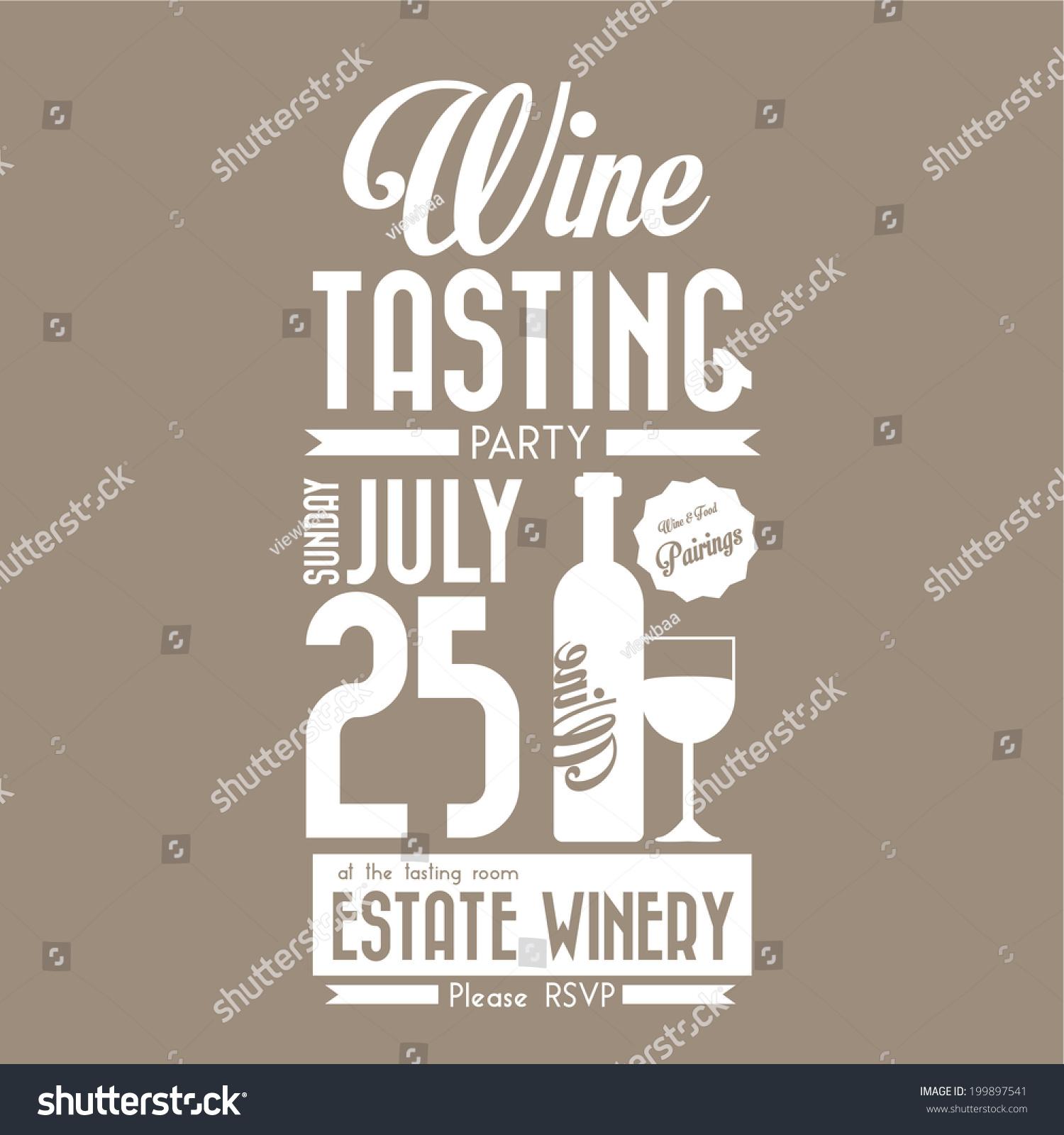 Royalty-free Vintage Wine tasting party invitation… #199897541 Stock ...