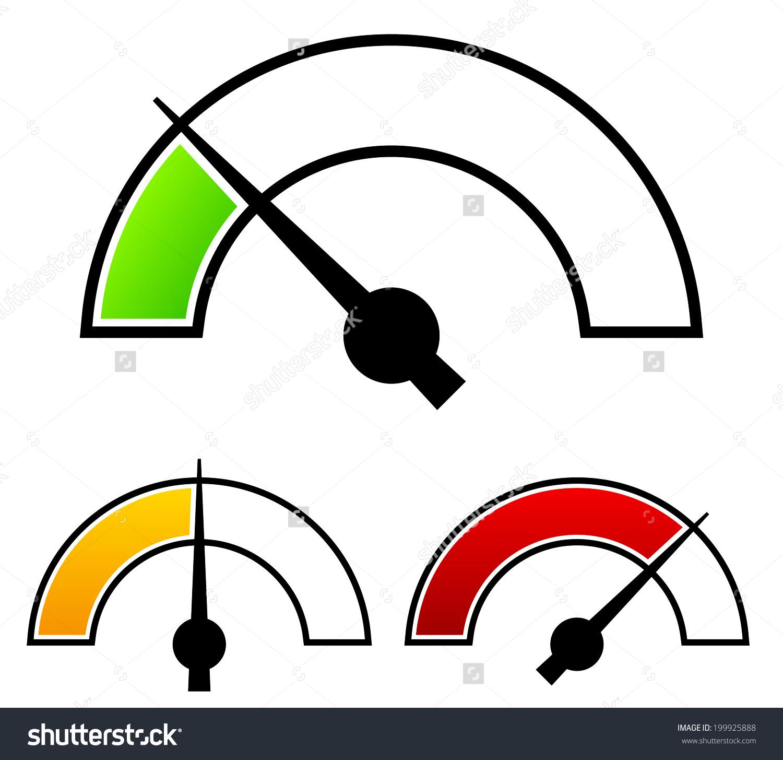 Meter Clip Art : Gauge meter templates pressure level stock vector