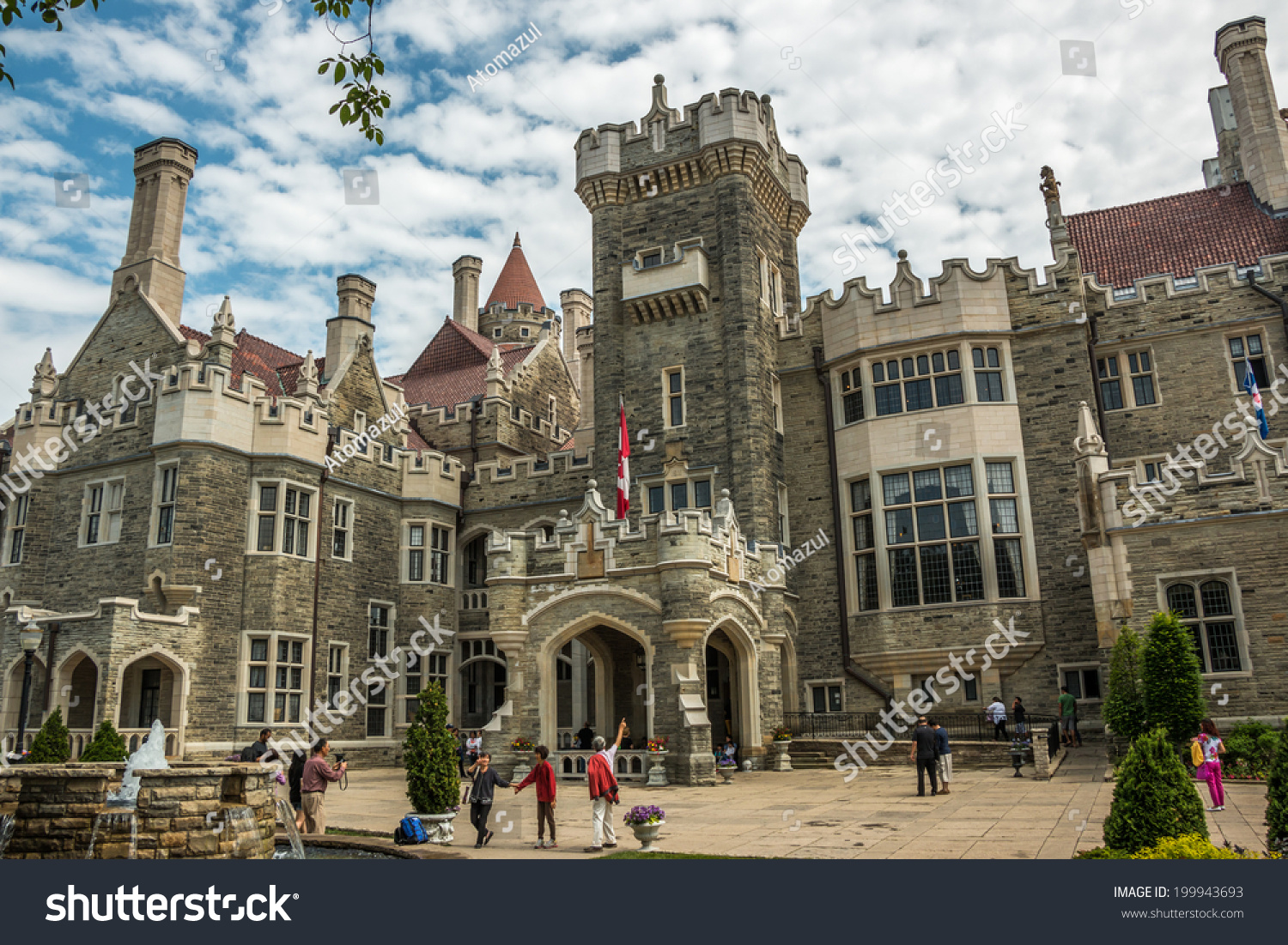 Toronto june 11 2014 casa loma stock photo 199943693 for Casa loma mansion toronto