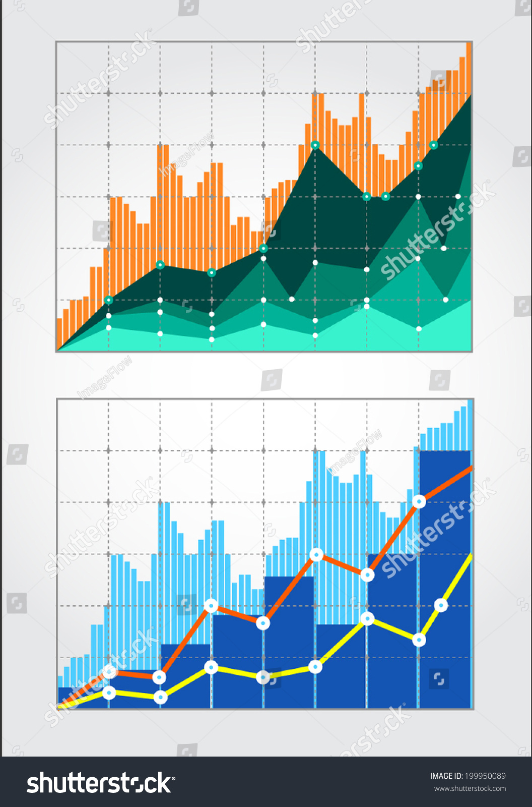 Forex Quotes Two Charts Forex Quotes Certain Period Stock Vector 199950089