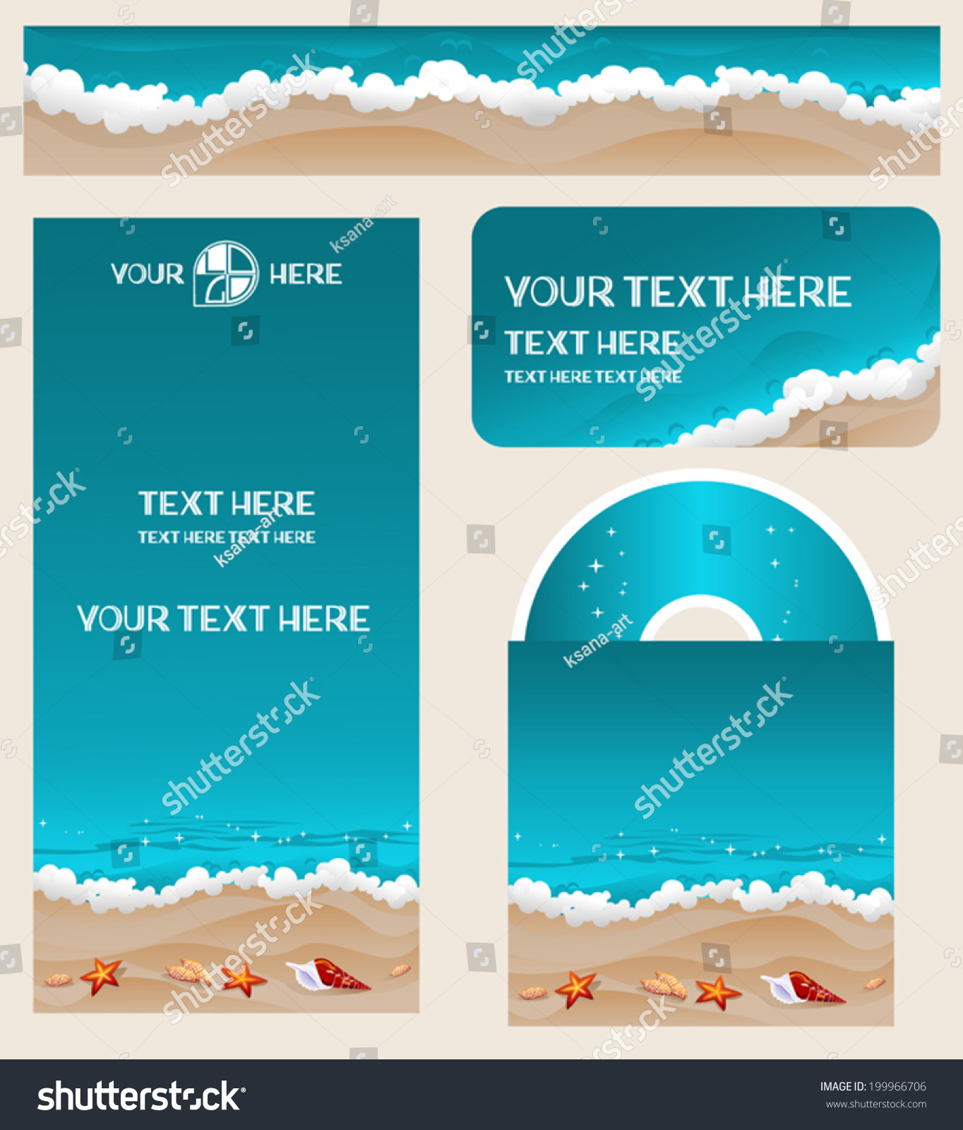 branding design travel agency vacation theme stock vector