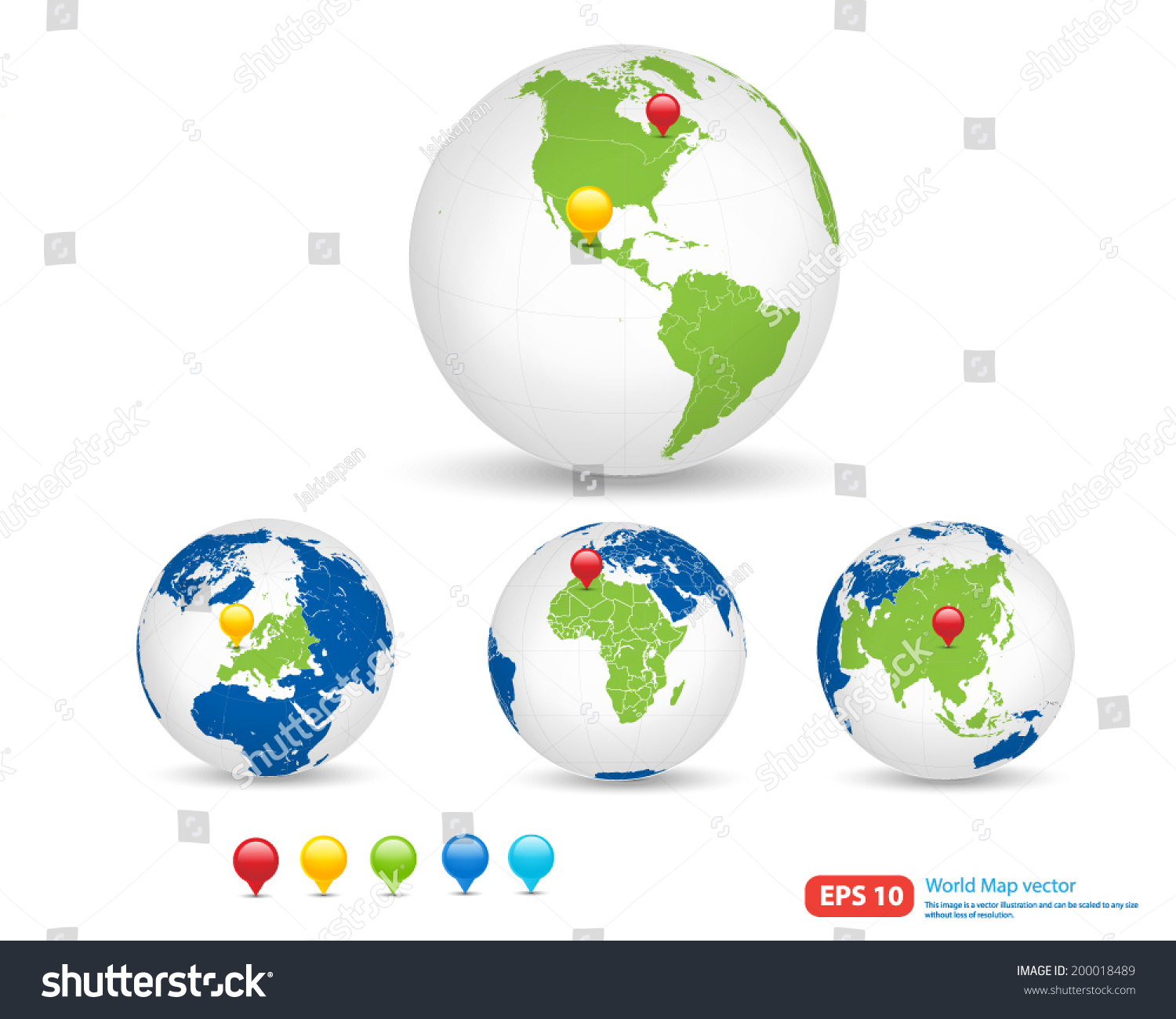 New world map globe pin marker stock vector 200018489 shutterstock new world map with globe and pin marker location vector format vector format gumiabroncs Gallery