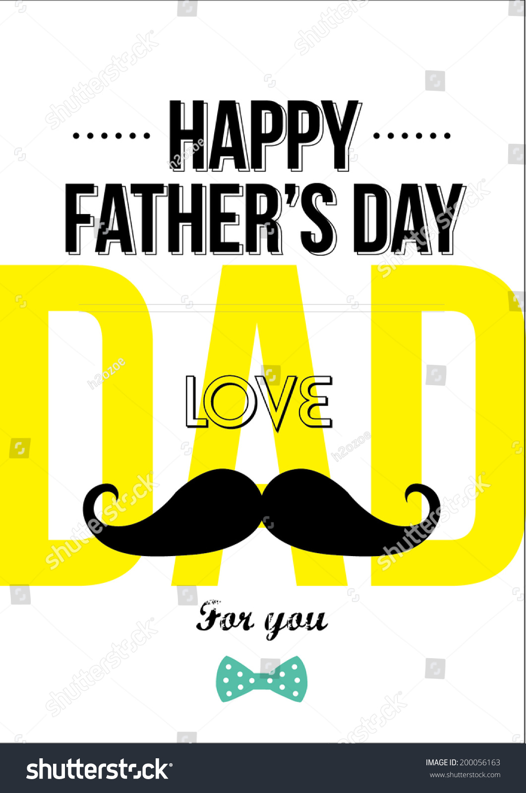 Design Greeting Card Fathers Day Stock Vector 200056163 ...