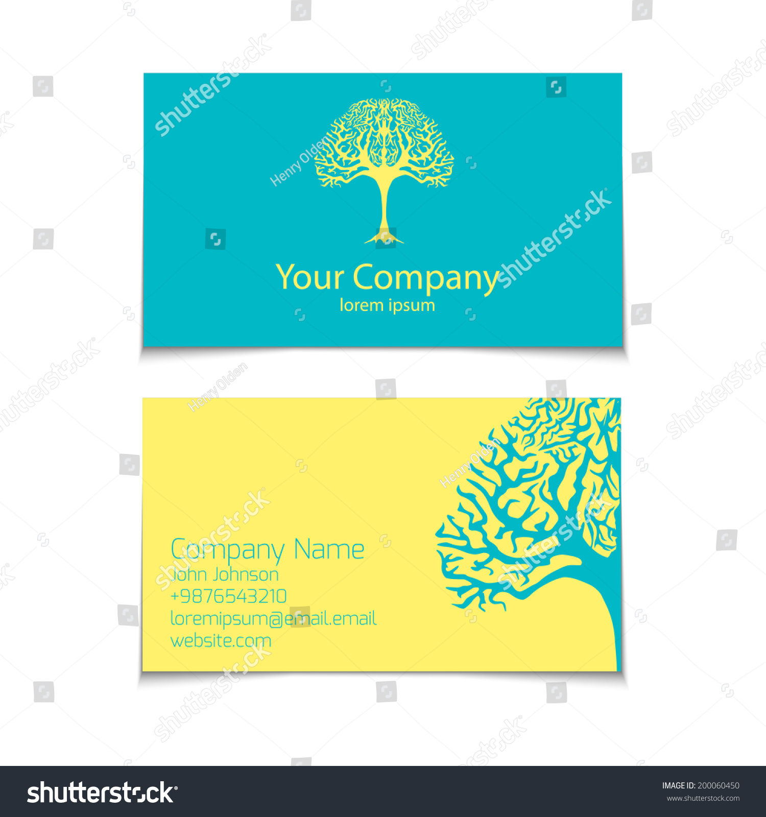 Vector Business Card Stock Vector 200060450 - Shutterstock