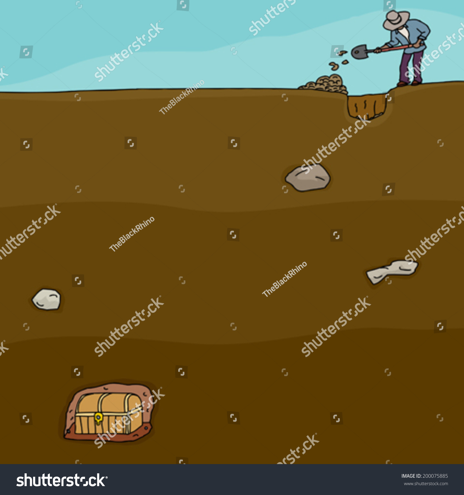 digging for buried treasure Someone digging for a buried treasure - royalty free clipart picture picture description: clip art picture of someone digging for a buried treasurethis royalty free clipart image of someone digging for a buried treasure is available by purchasing a low cost subscription.