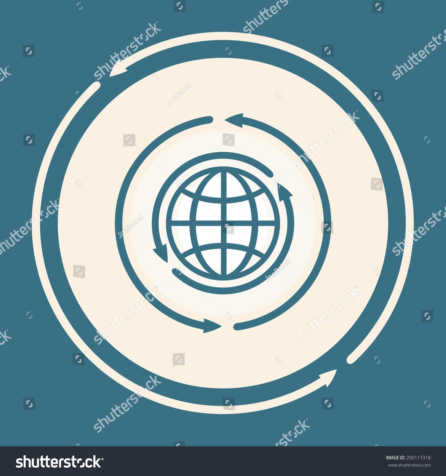 Symbol Renewal World Internet Projects Stock Illustration 200117318