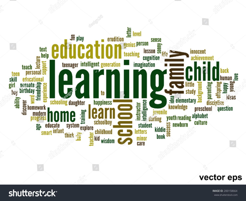 Vector Concept Conceptual Education Abstract Word Stock Vector HD ...