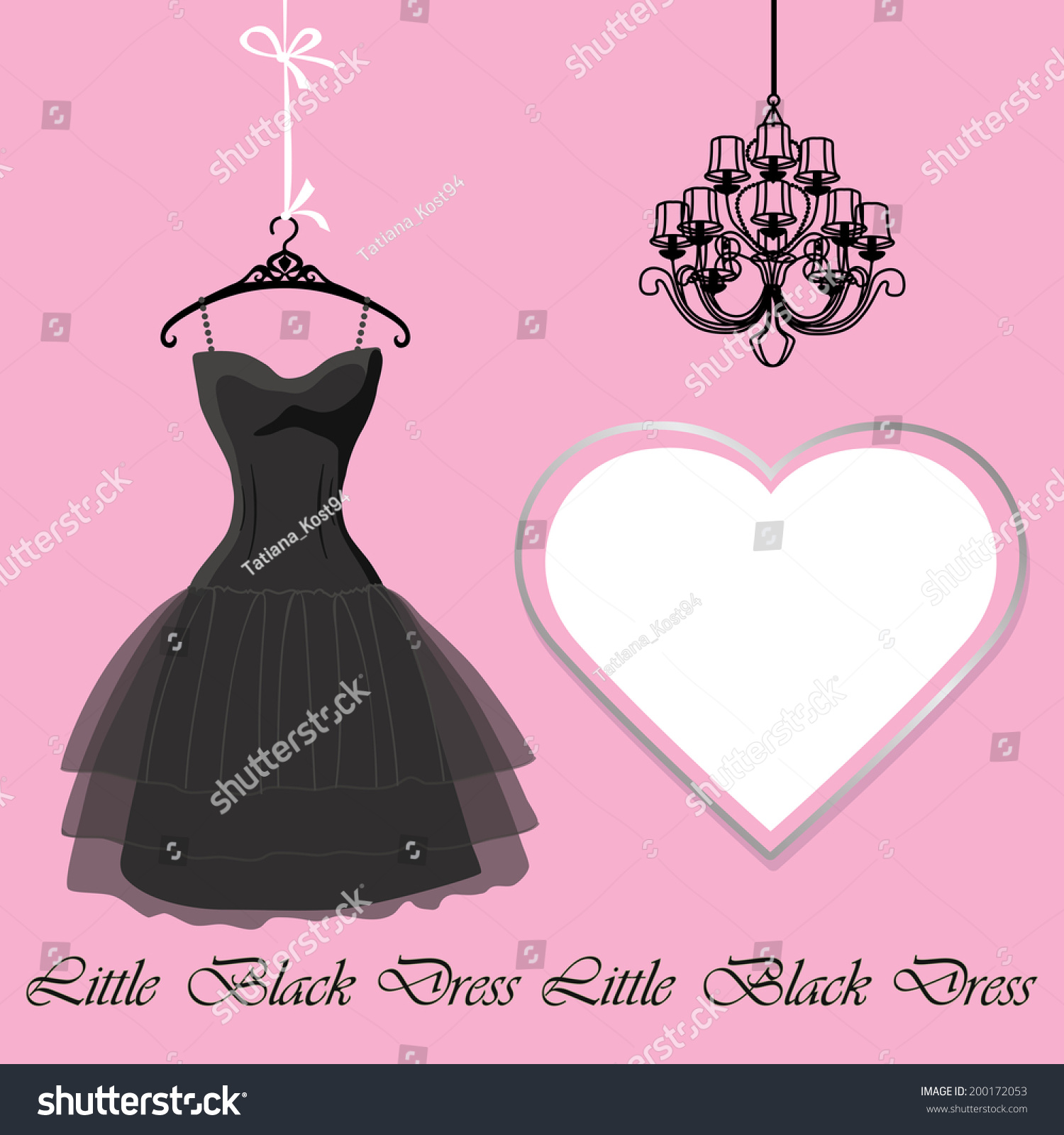 Classic Little Black Dress On Mannequin Stock Vector ...