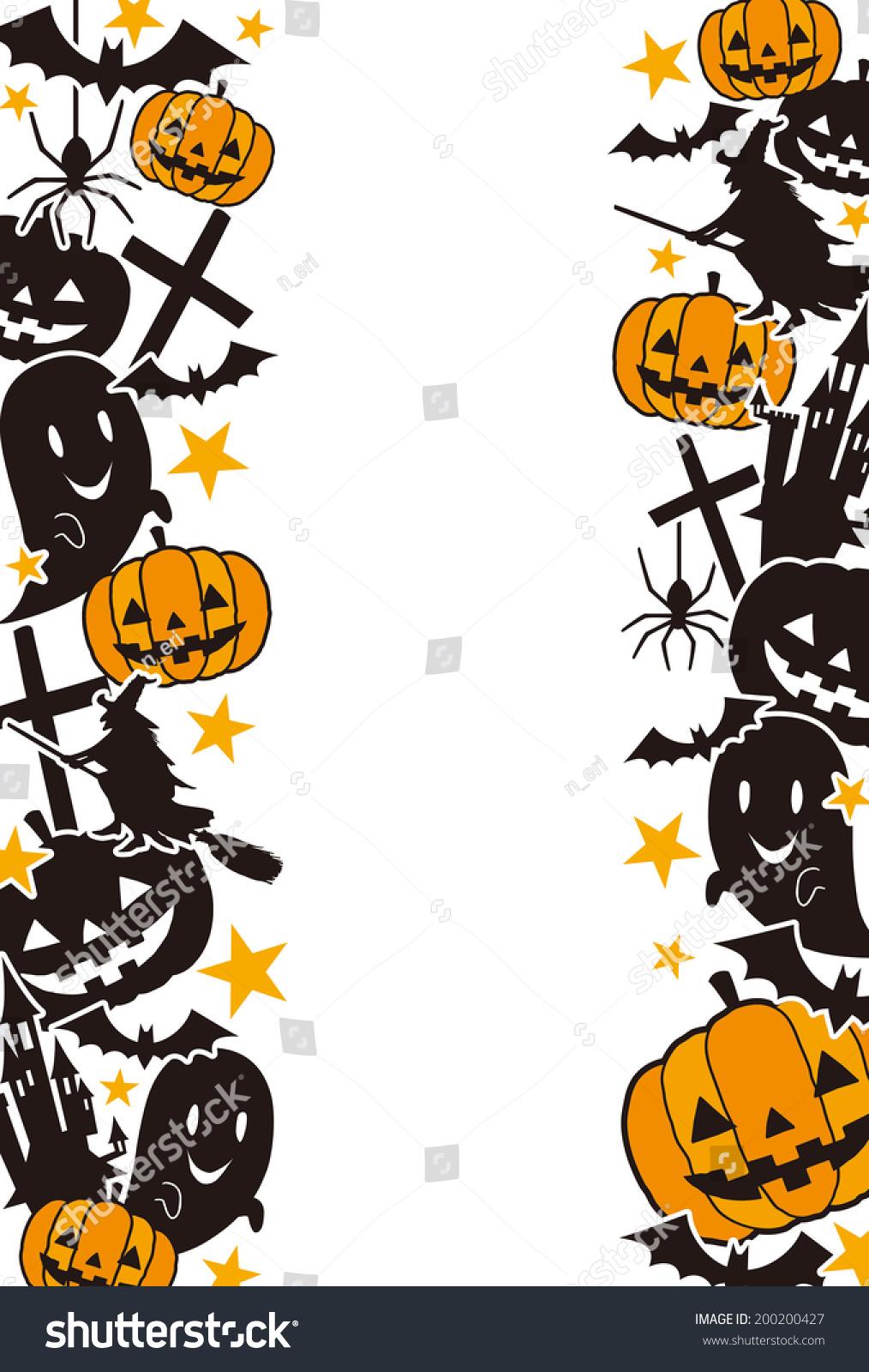 halloween frame stock vector (royalty free) 200200427 - shutterstock