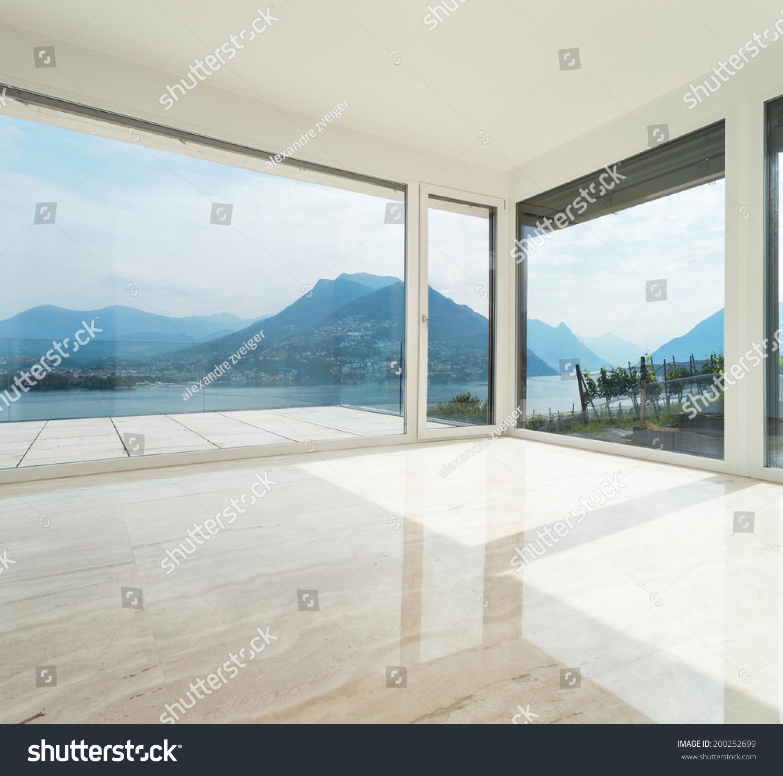 Big empty living rooms - Interior Modern Penthouse Empty Living Room Stock Photo 200252699