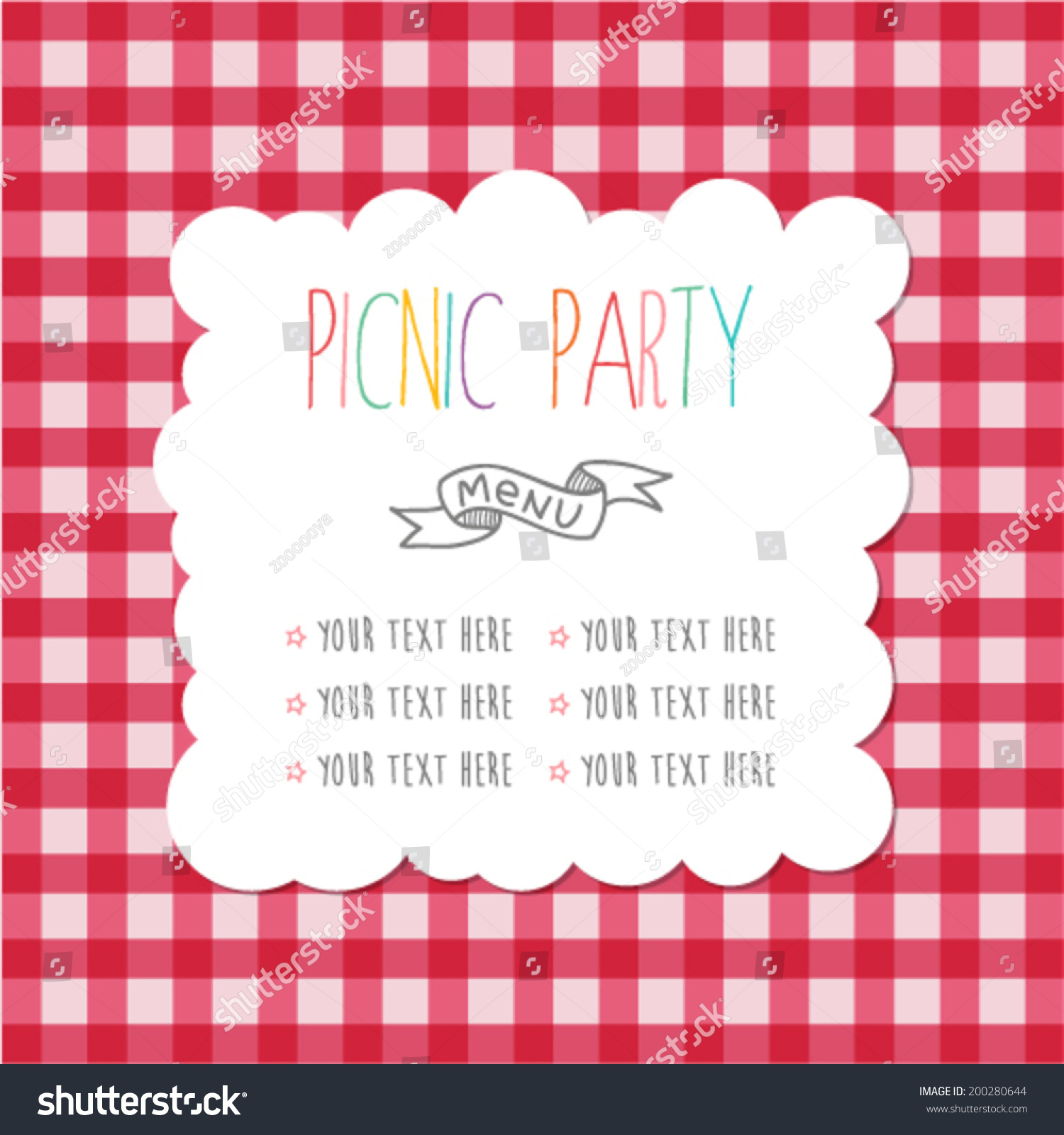 Picnic invitation images, stock photos & vectors | shutterstock.