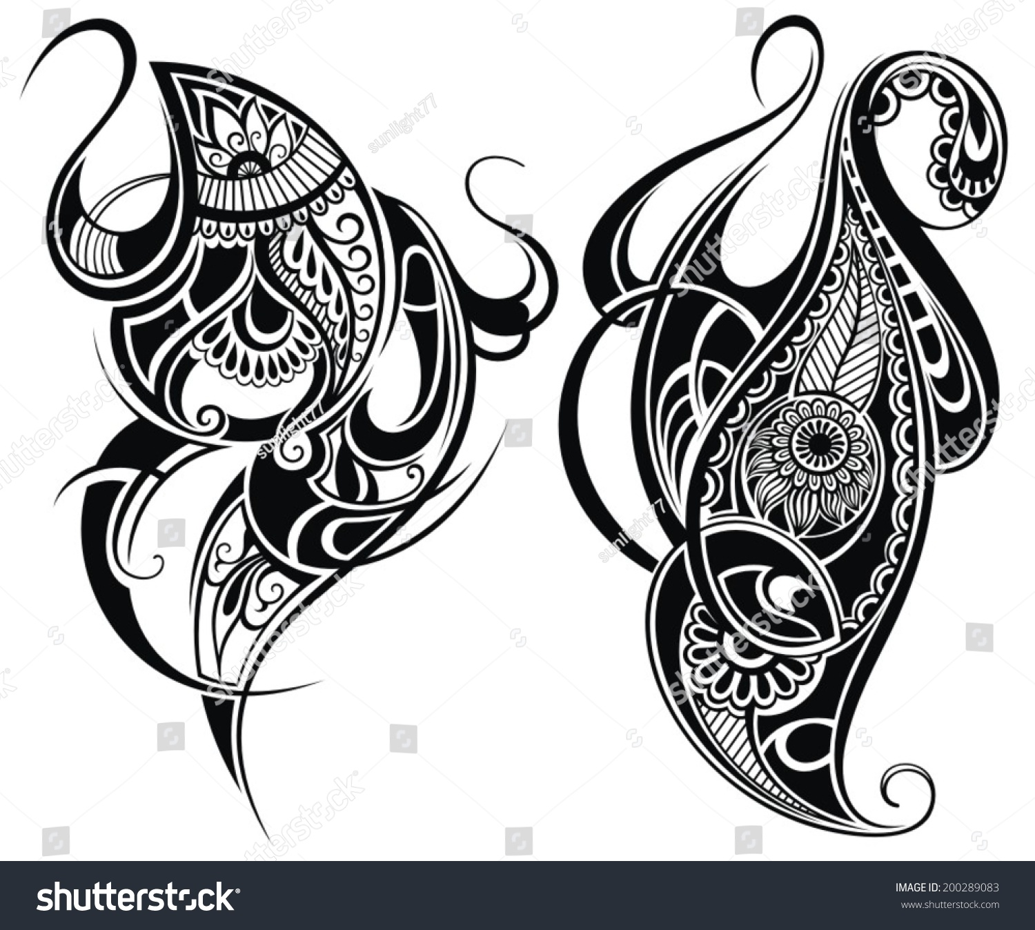 Stock Vector Tattoo Design