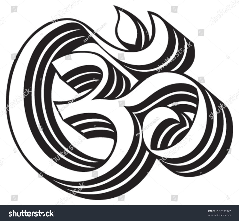 Om aum symbol stock vector 20036377 shutterstock om aum symbol buycottarizona Image collections