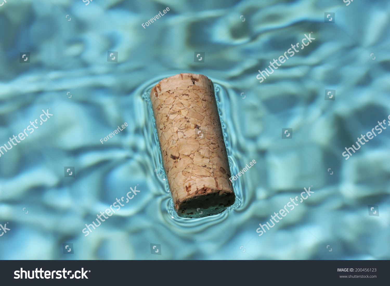 Cork Floating Blue Water Stock Photo 200456123 - Shutterstock