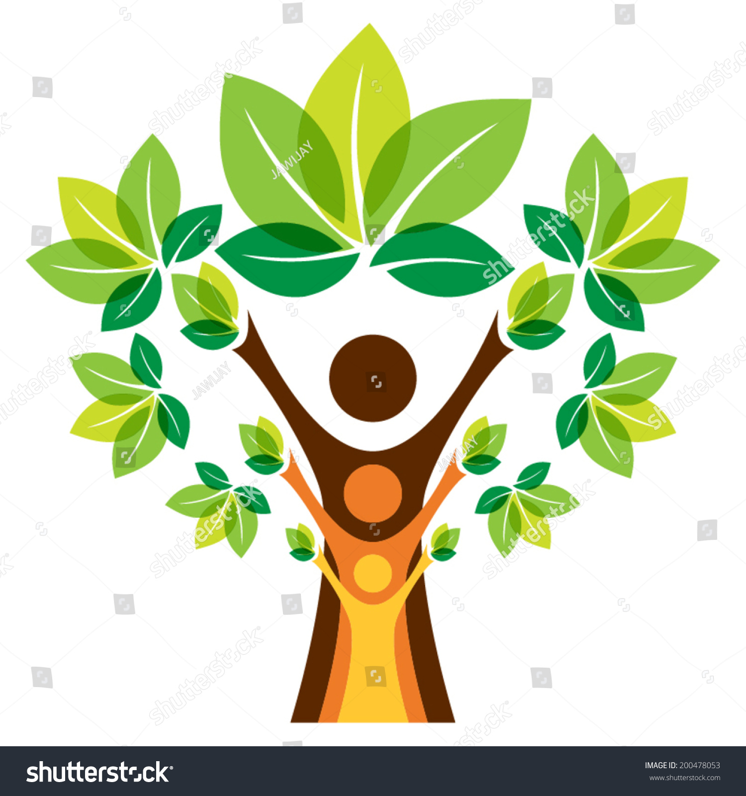 Growing Family Tree Concept Stock Vector 200478053 - Shutterstock