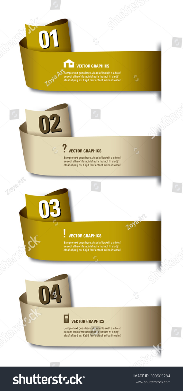 Infographics Numbered Banners Vector Eps10 Format Stock Vector ...