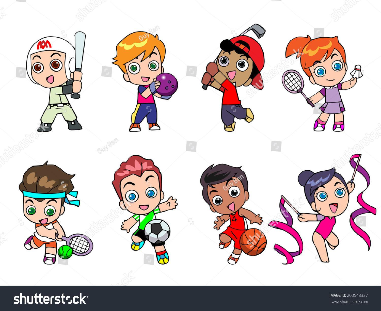Character Design Kawaii : Illustration character design athlete cute cartoon stock