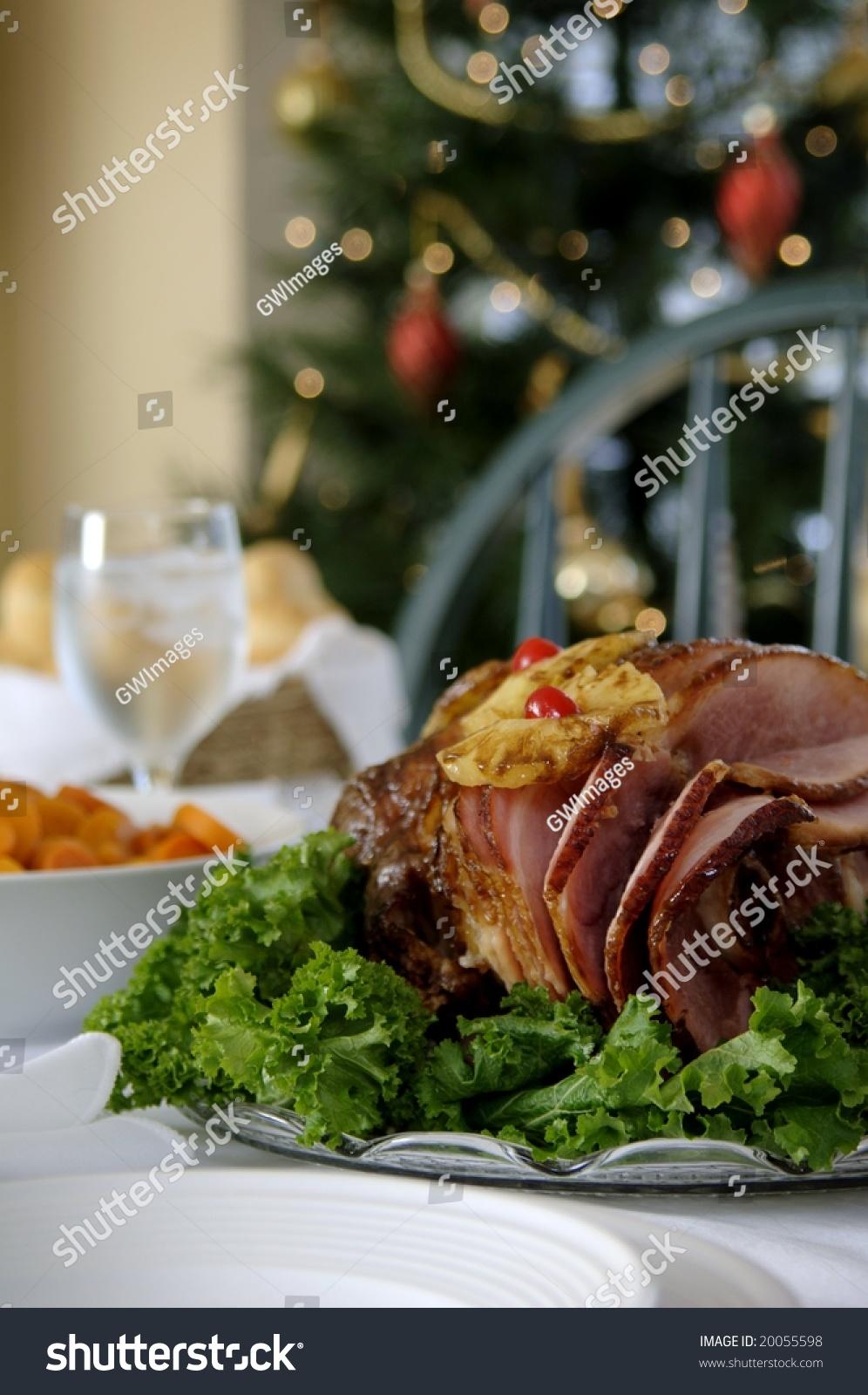christmas ham dinner table - photo #3