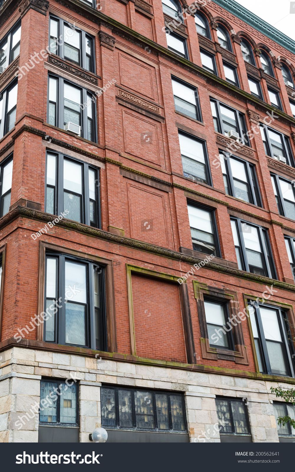 Old Brick Building Converted To Loft Apartments