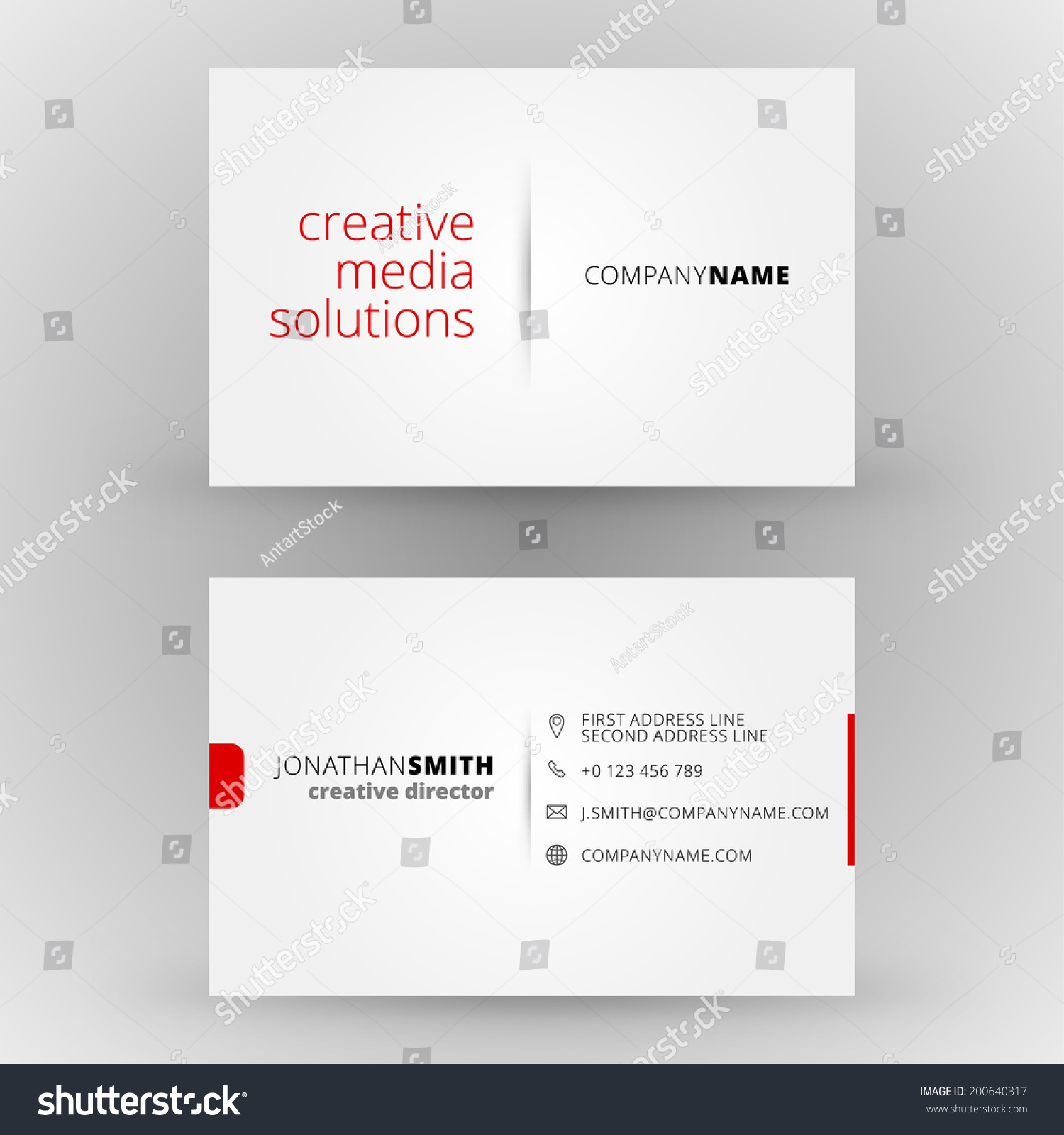 Business Card Vector Background Stock Vector Shutterstock