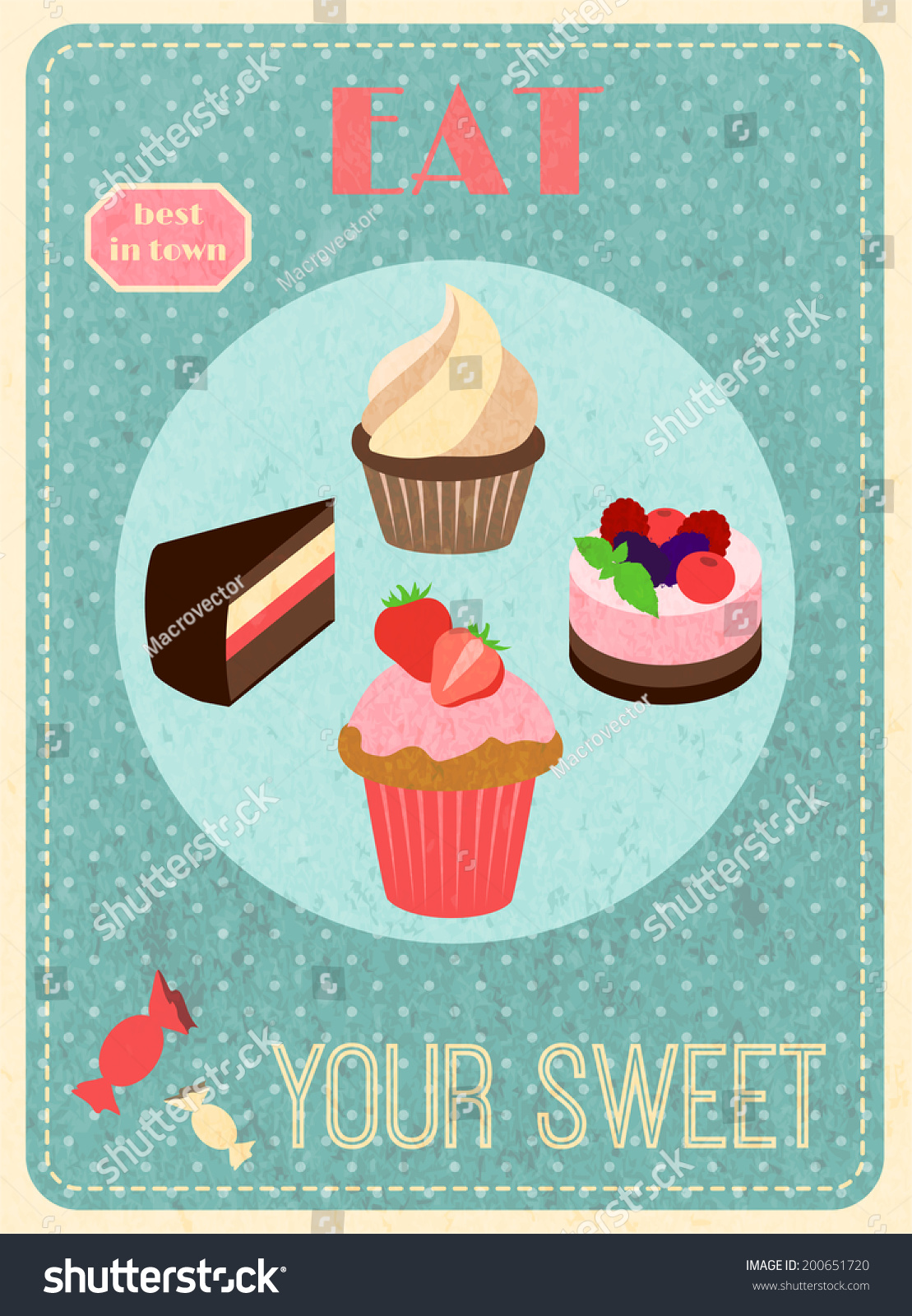 eat your sweet retro poster cupcake layered cake dessert save to a lightbox