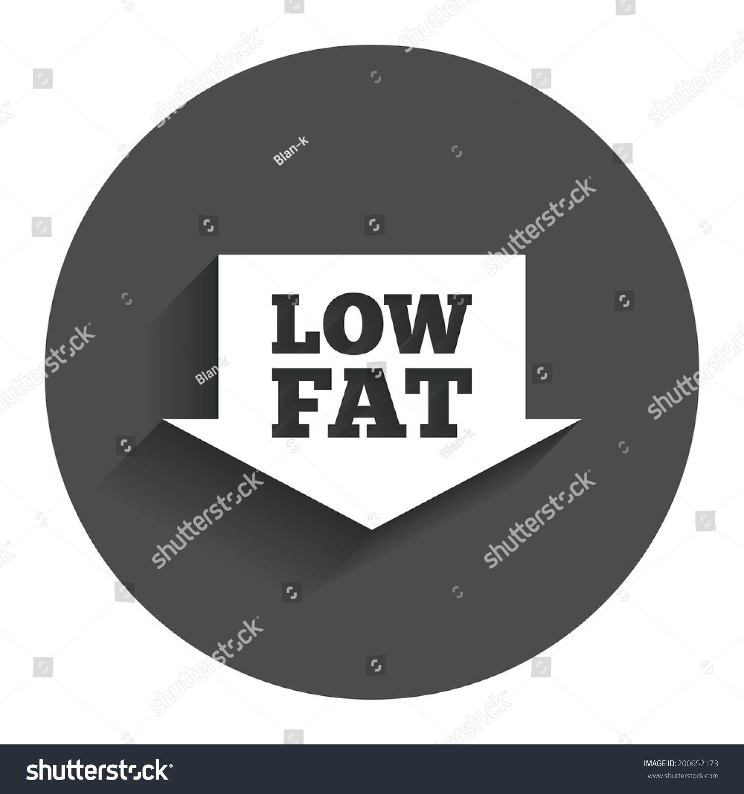 Low Fat Sign Icon Salt Sugar Stock Vector Royalty Free 200652173