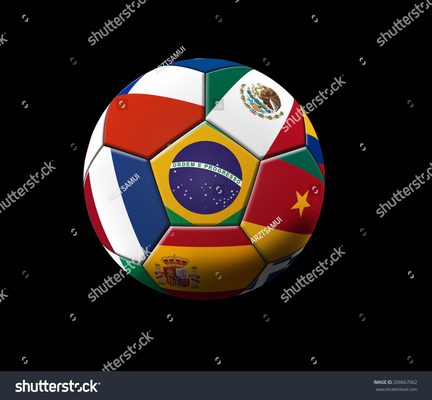 soccer artwork championship brazil stock illustration 200667062