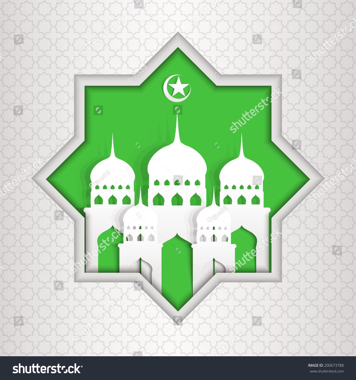 Ramadan kareem greeting card vector template stock vector 200673788 ramadan kareem greeting card vector template greeting card with mosque and crescent moon paper kristyandbryce Image collections