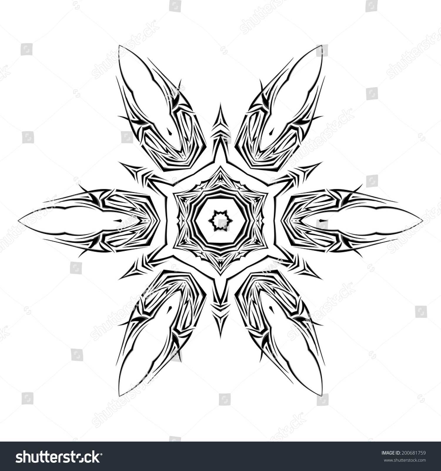 sketch tattoo shuriken on white background stock vector 200681759 shutterstock. Black Bedroom Furniture Sets. Home Design Ideas
