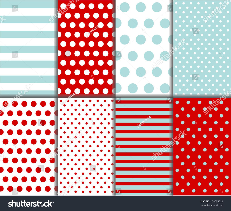 Jumbo polka dot gingham diagonal stripes stock vector for Red and white polka dot pattern