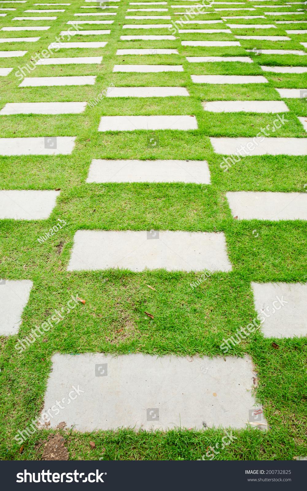 Cement footpath green grass yard stock photo 200732825 shutterstock cement footpath in green grass yard workwithnaturefo