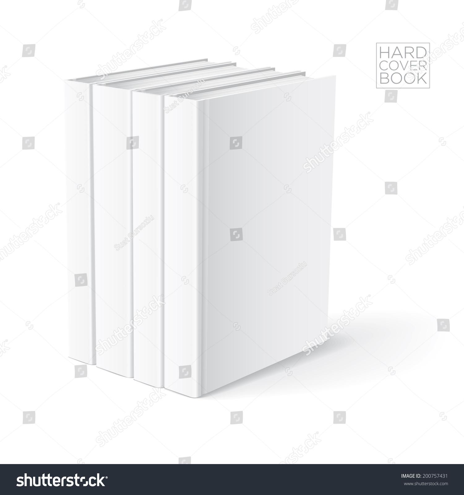 3d hard cover book design template vector detailed illustration