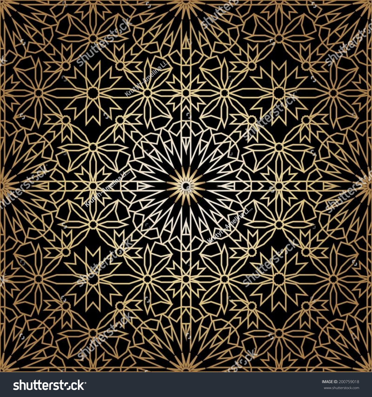 ornamental round morocco seamless pattern orient stock vector 200759018 shutterstock. Black Bedroom Furniture Sets. Home Design Ideas