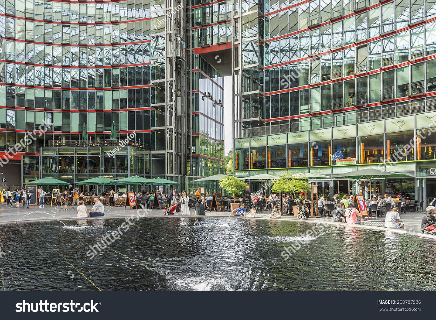 berlin june 16 2014 sony center stock photo 200787536 shutterstock. Black Bedroom Furniture Sets. Home Design Ideas