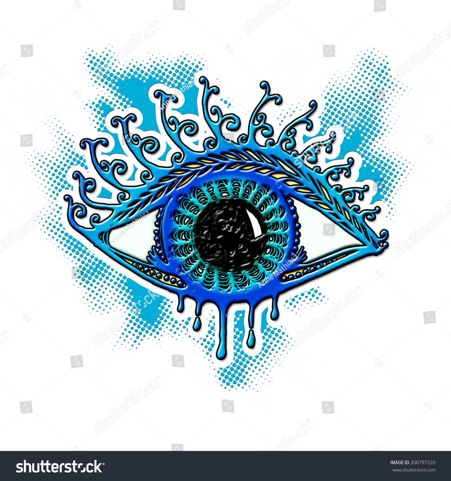 Royalty Free Stock Illustration Of Blue Eye Protection Symbol Evil