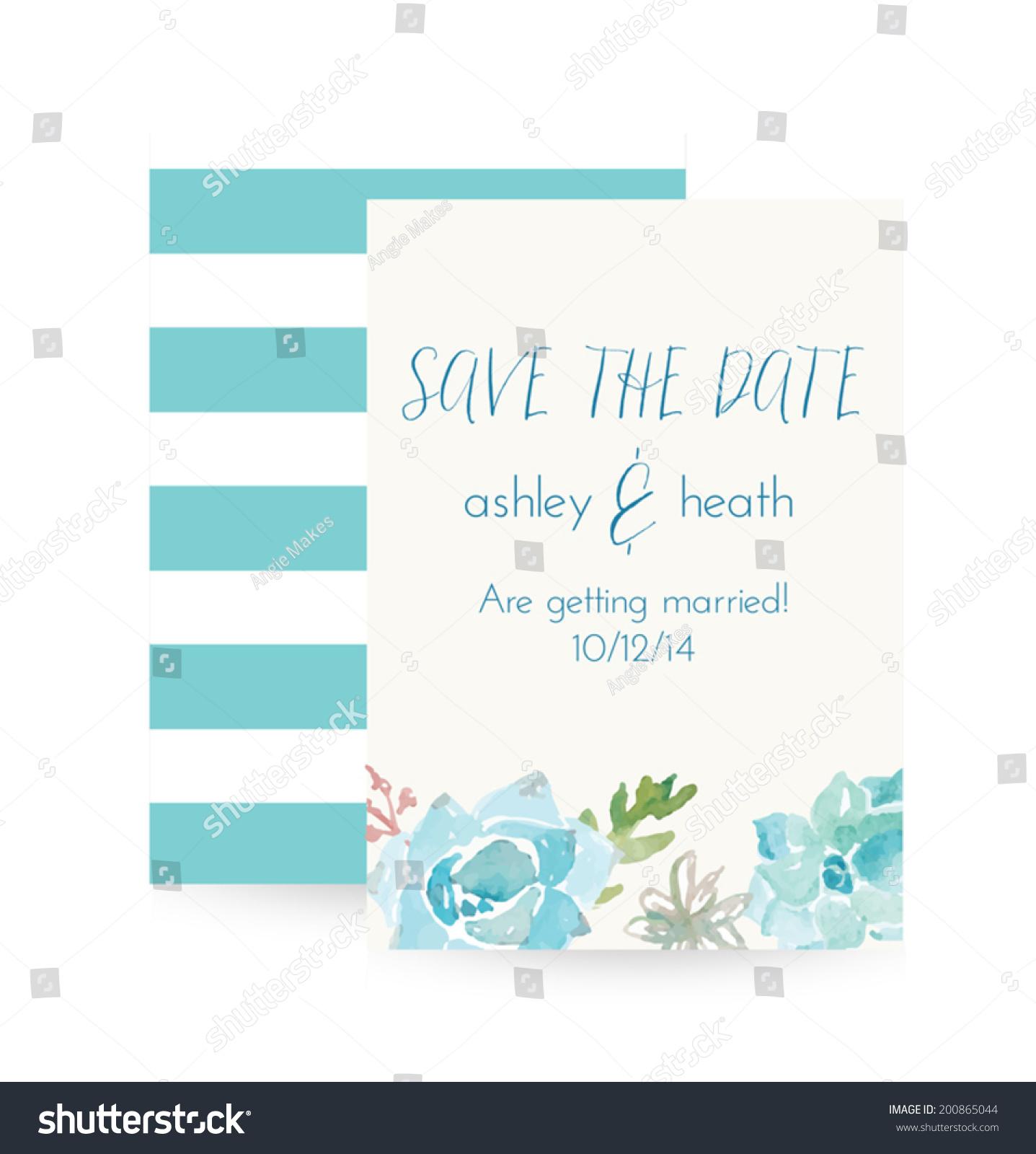 succulent wedding invitations succulent wedding invitations Romantic Succulents wedding invitation suite