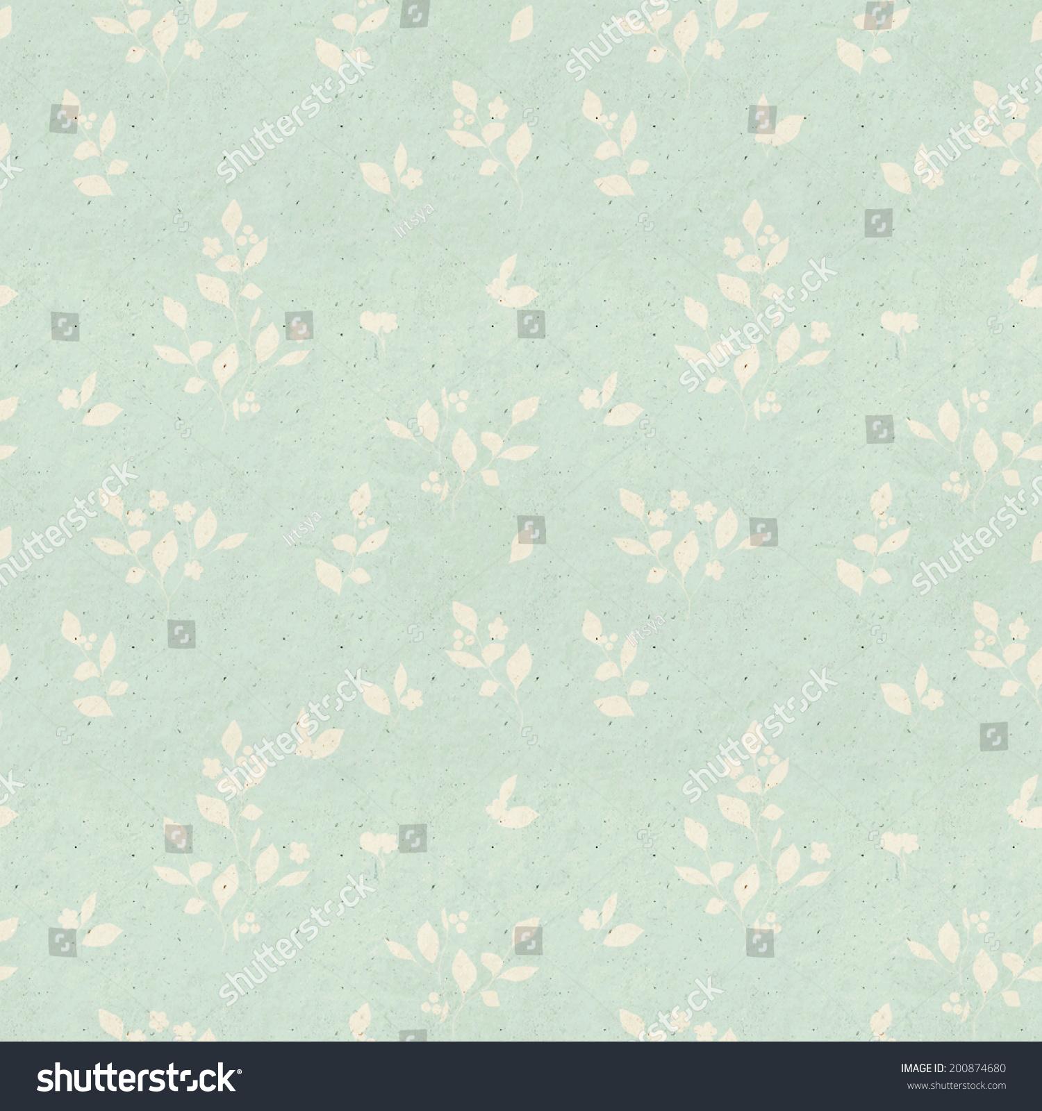 Seamless Vintage Wallpaper Pattern Paper Stock Illustration