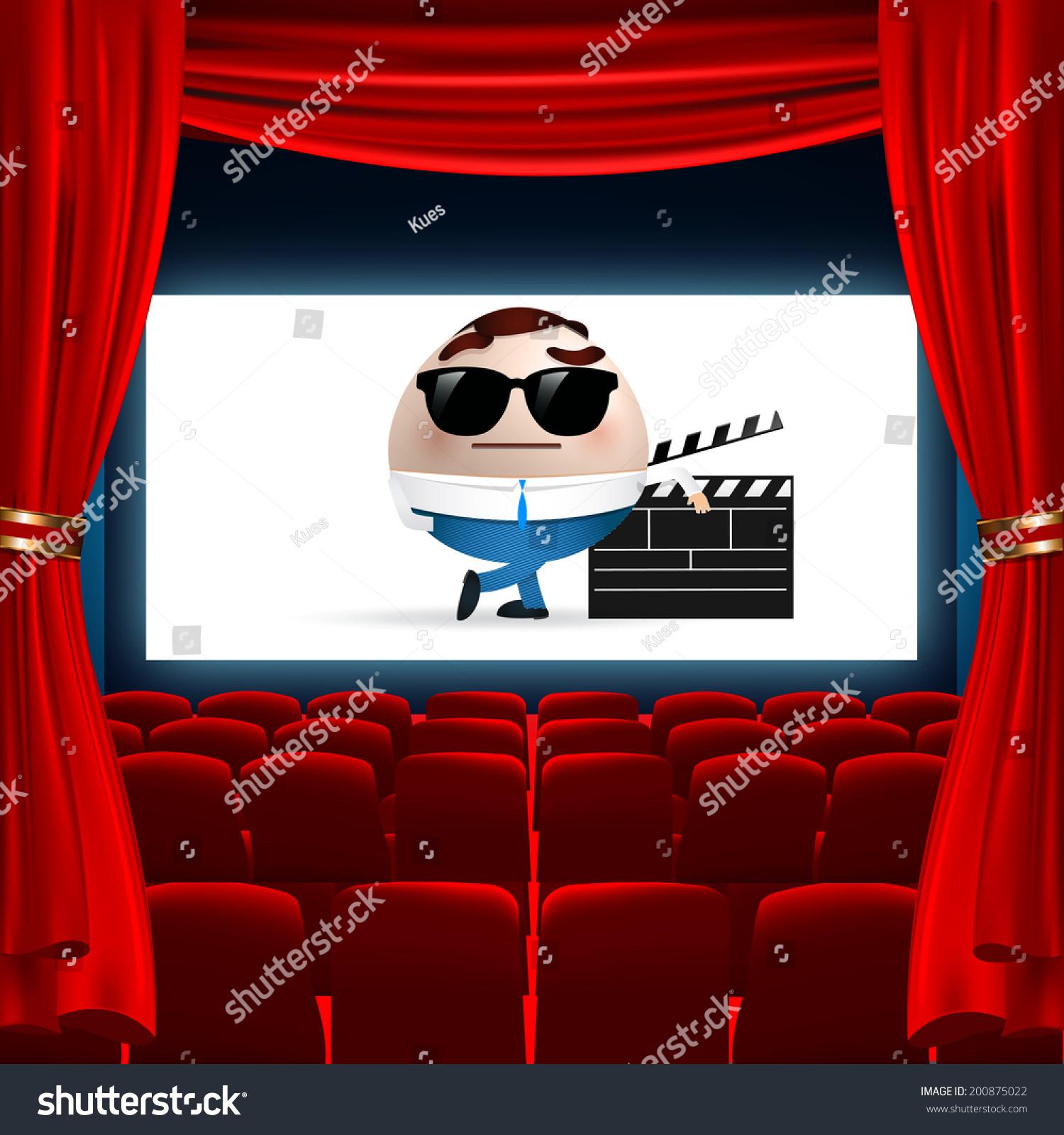 Cartoon On Cinema Screen Stock Vector 200875022 Shutterstock
