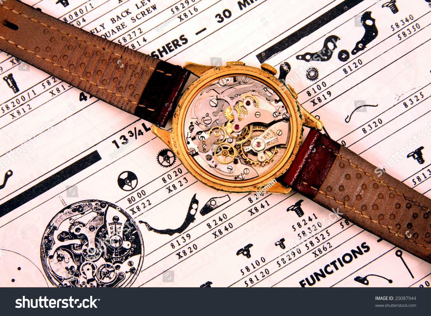 Watch wrist parts - Save To A Lightbox