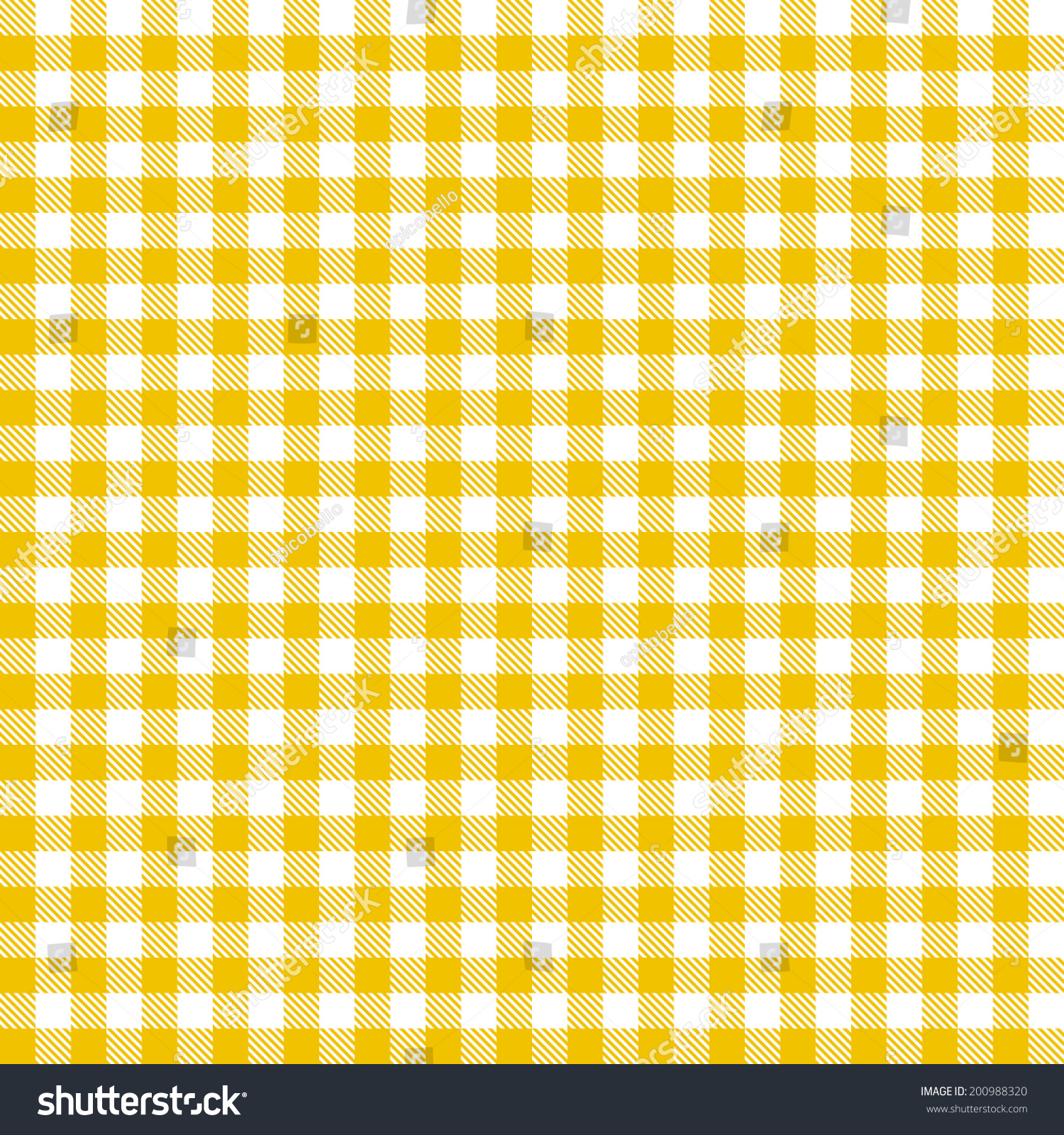 Nice Checkered Tablecloths Pattern   Endless   Yellow