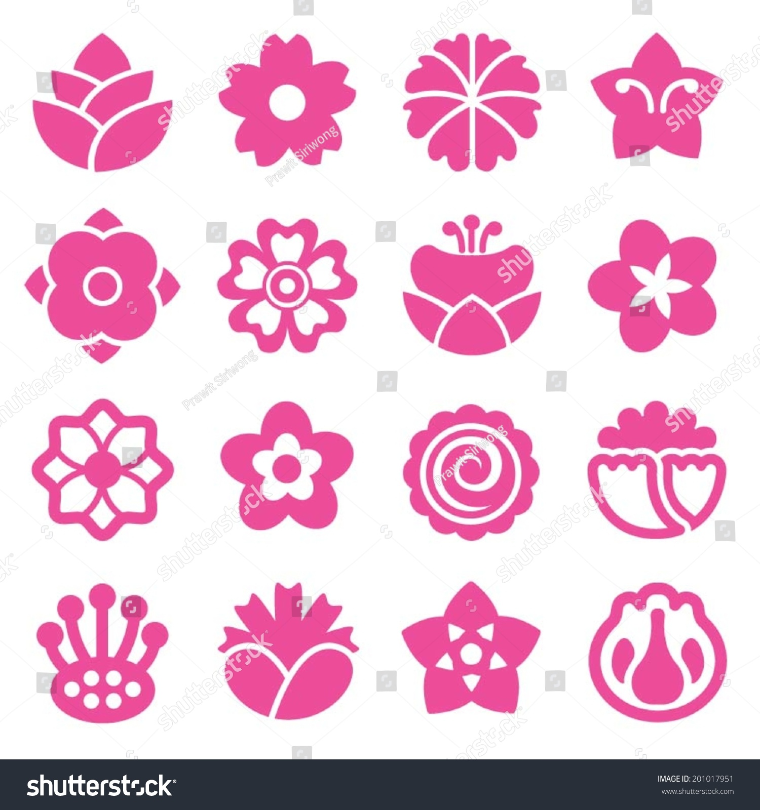 Flower icon pink stock vector 201017951 shutterstock flower icon pink dhlflorist Images