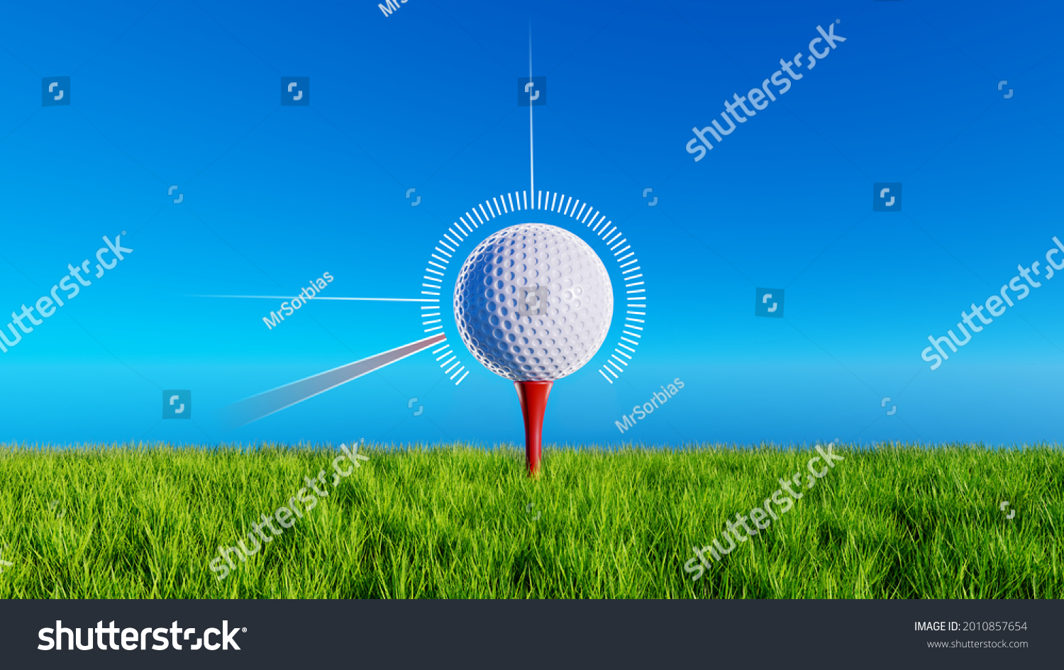 stock-photo-golf-ball-on-a-red-tee-in-gr