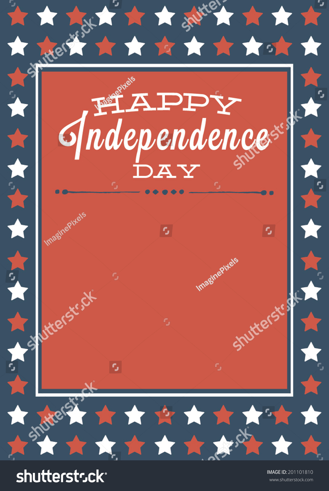 Happy Independence Day Red White Blue Stock Vector Royalty Free