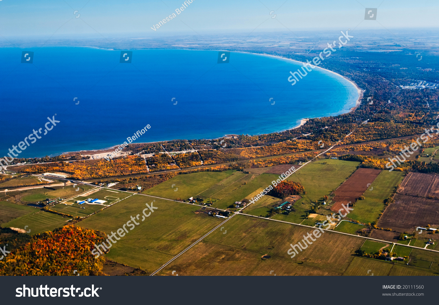 Aerial Photographs Beautiful Fall Colours Countryside