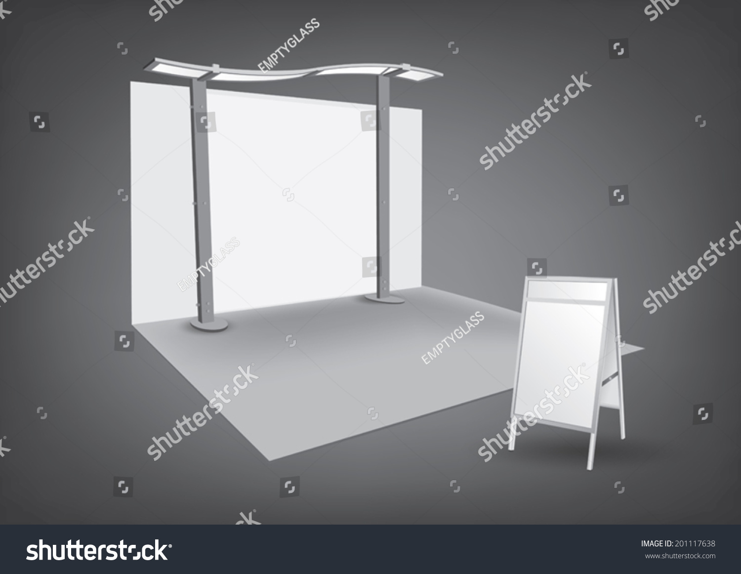 Exhibition Stand Vector : Vector blank trade exhibition stand shutterstock