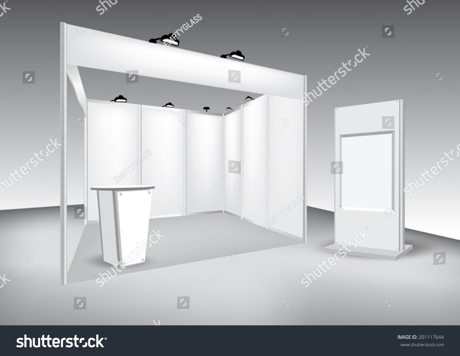Exhibition Stand Design Vector : Vector blank trade exhibition stand stock